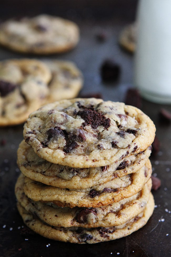 ... chocolate chip cookies with fudgy brownie chunks inside! These cookies