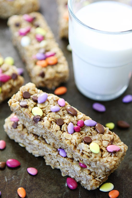 fun back to school treat, make No-Bake Sunflower Butter Granola Bars ...