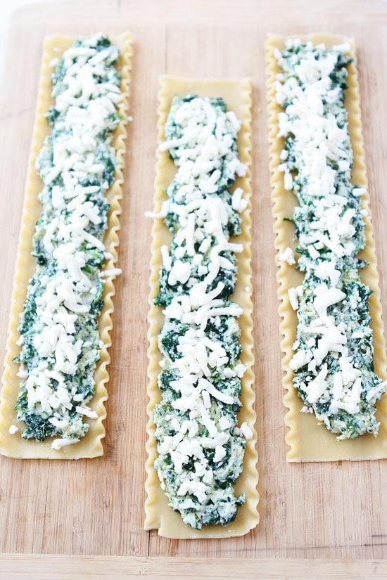 Pesto Lasagna Roll Ups Recipe on twopeasandtheirpod.com You will love ...