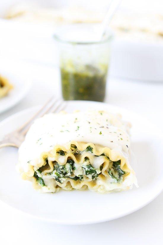 Pesto And Pea Lasagna Recipe — Dishmaps