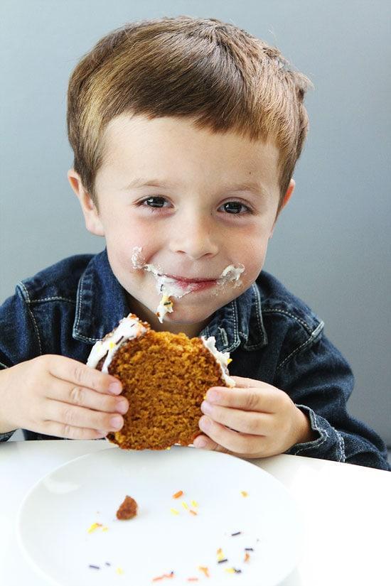 Pumpkin Bundt Cake with Cream Cheese Frosting Recipe