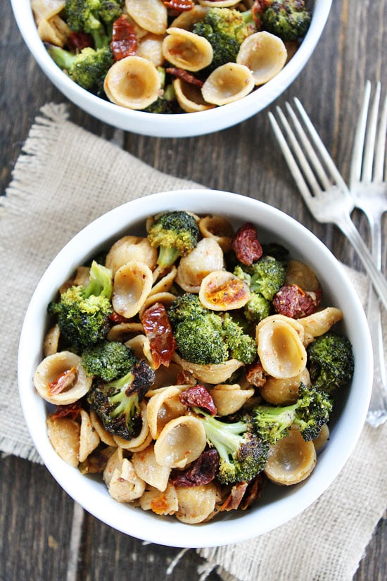 Pasta with Roasted Broccoli | Two Peas & Their Pod