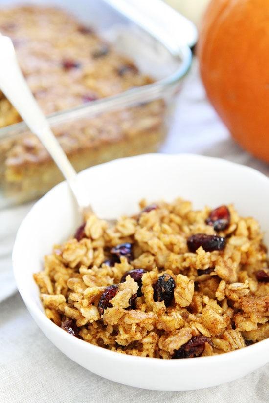 Pumpkin Baked Oatmeal Recipe