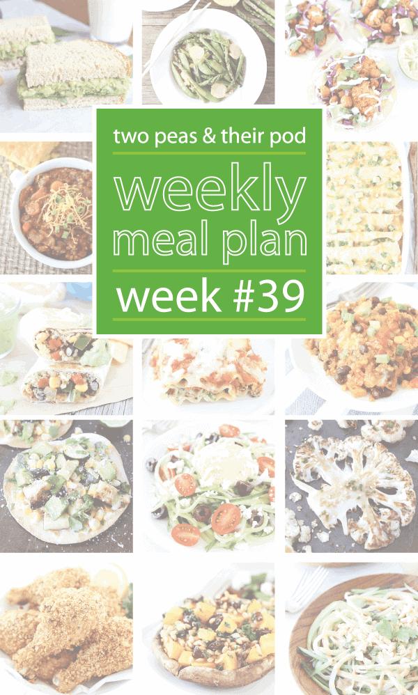 Weekly Meal Plan {Week 39}