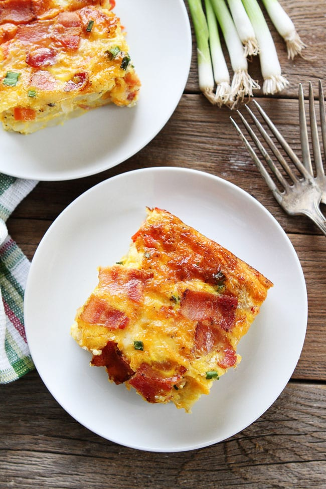 ... breakfast casserole is packed with bacon, potatoes, and cheese! It is