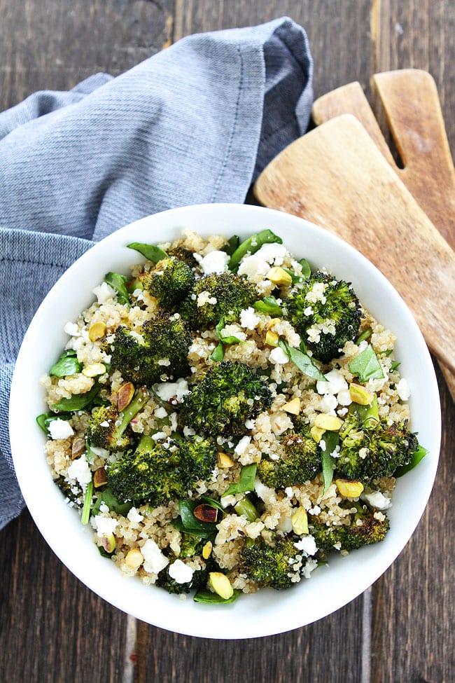 Roasted Broccoli Quinoa Salad Recipe