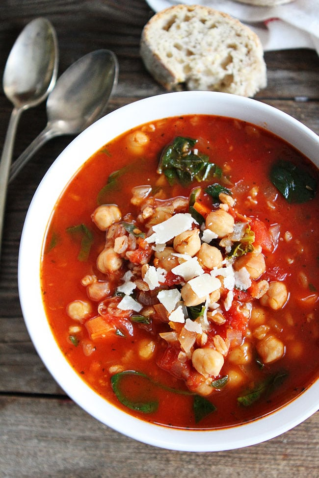 Chickpea farro soup recipe two peas their pod for Soup for a cold