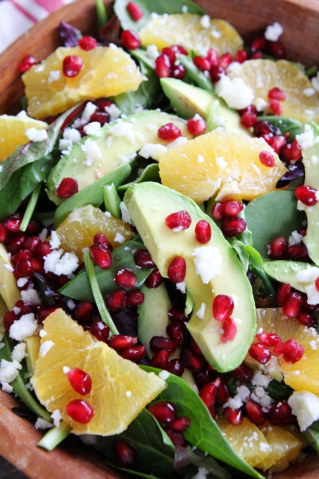 Pomegranate, Orange, and Avocado Salad Recipe on twopeasandtheirpod ...