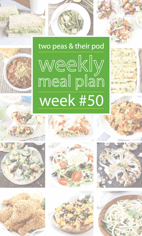 Weekly Meal Plan {Week 50}
