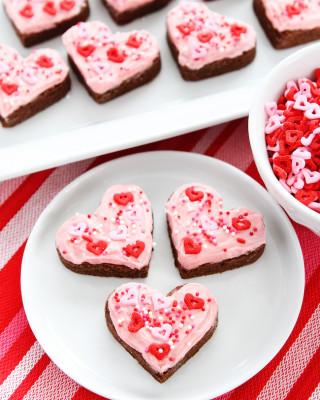 Chocolate Sugar Cookie Hearts-7