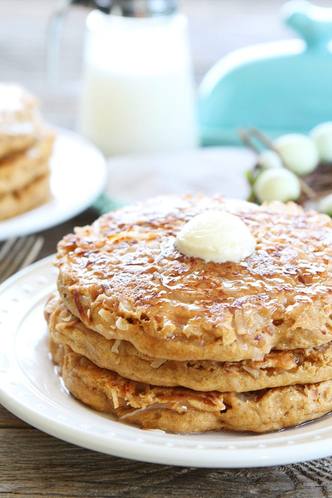 Toasted Coconut Pancakes Recipe