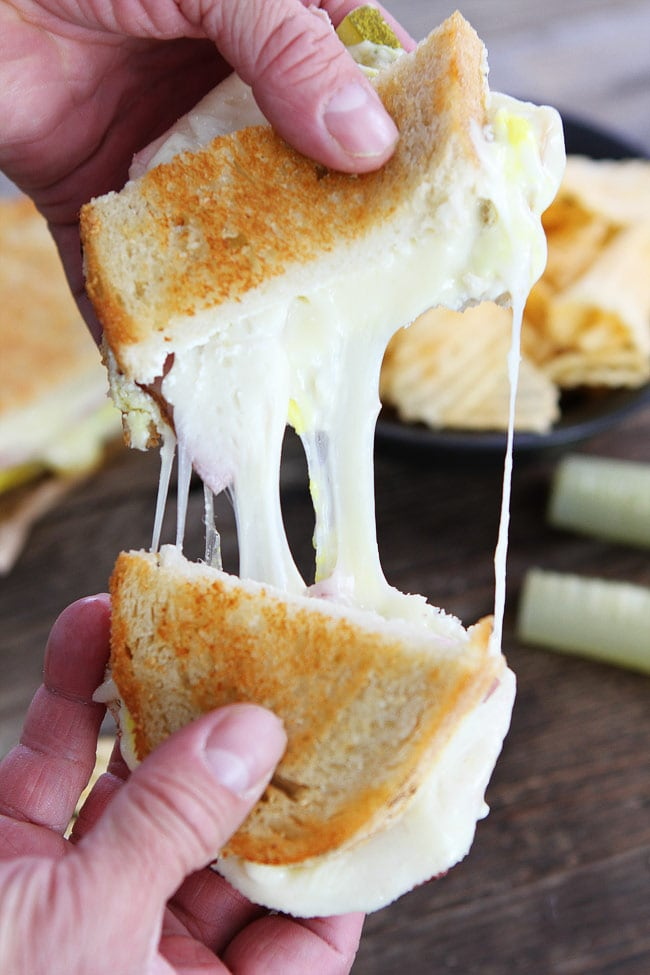 Dill Pickle Wrap Grilled Cheese Sandwich