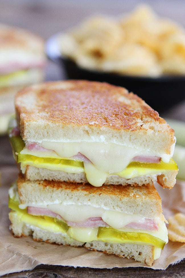 com Grilled cheese sandwich made with dill pickles, cream cheese, ham ...