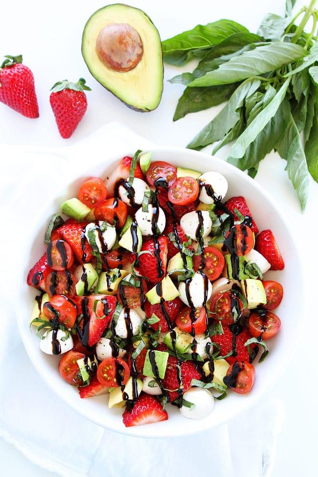Avocado Strawberry Caprese Salad Two Peas Amp Their Pod