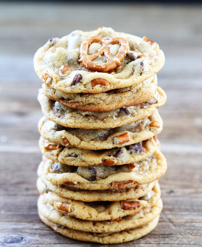 Salty Butterscotch-Toffee Cookies Recipe — Dishmaps