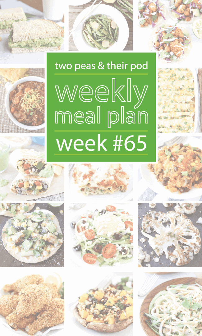 Weekly Meal Plan {Week 65}