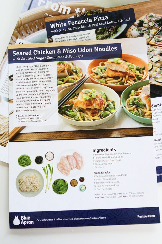 Easy Dinners with Blue Apron