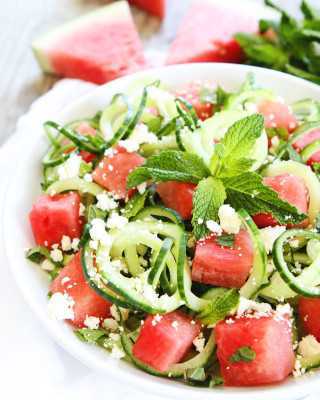 Cucumber-Noodle,-Watermelon,-and-Feta-Salad-3