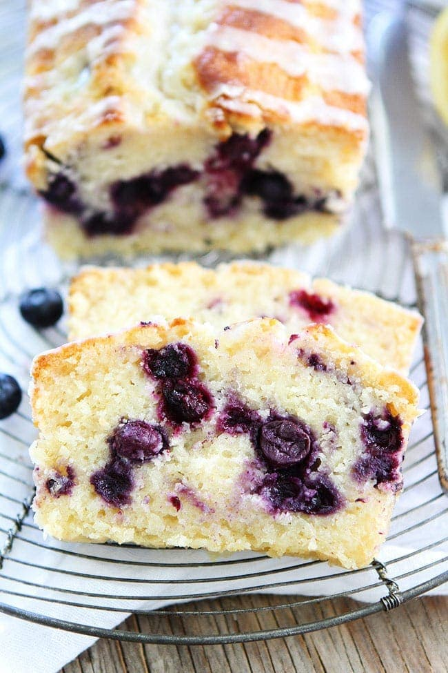Blueberry Loaf Cake With Lemon Glaze