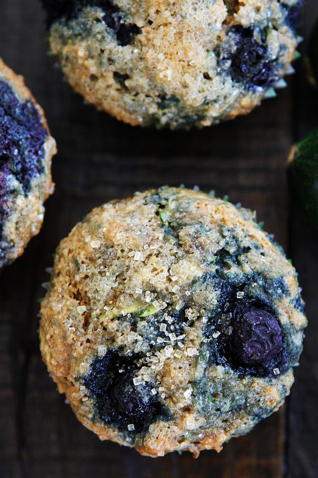 Zucchini Banana Blueberry Muffins Two Peas Amp Their Pod