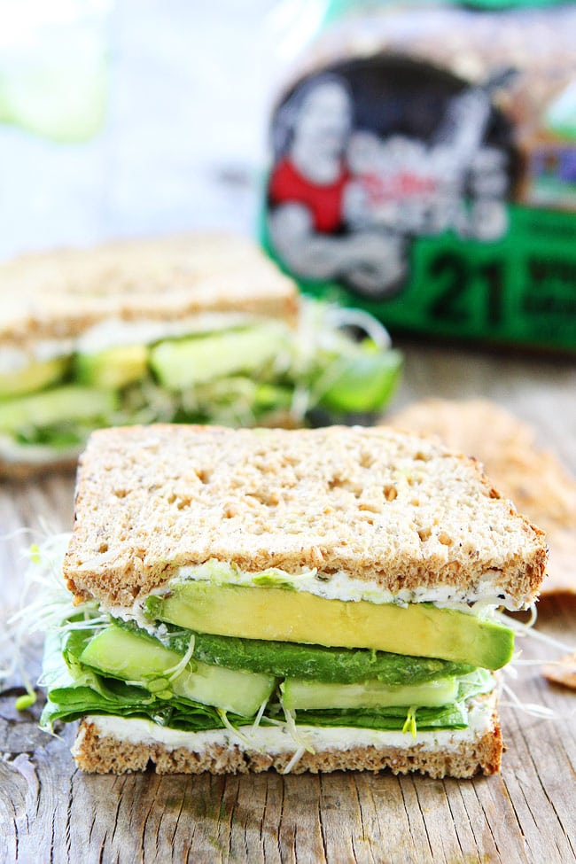 Cucumber and Avocado Sandwich Recipe