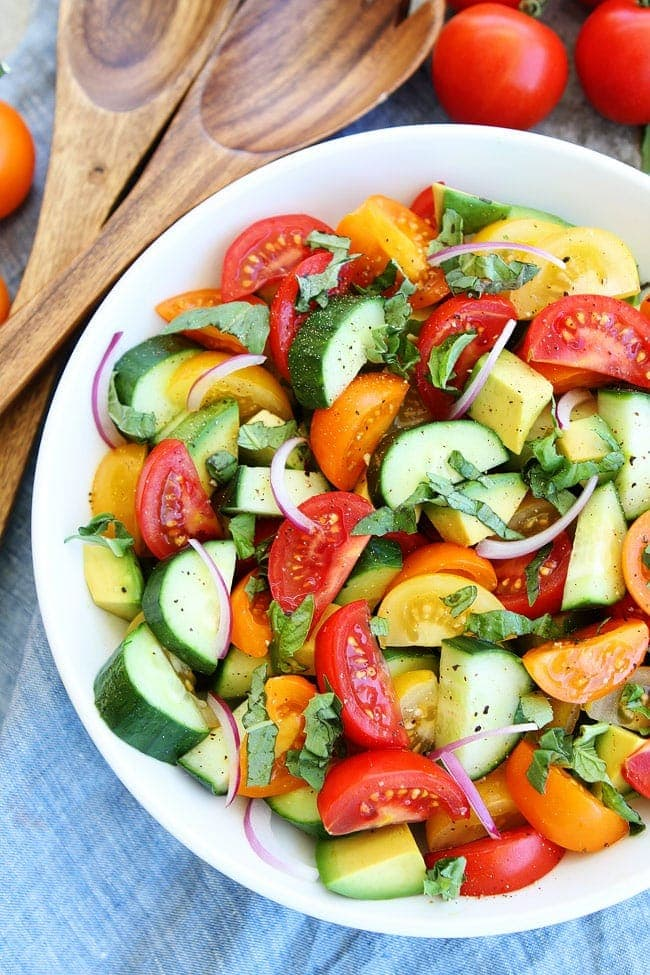 Tomato, Cucumber, and Avocado Salad-this fresh, light, and simple ...