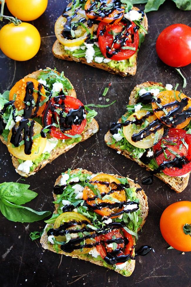 avocado tomato and goat cheese toast avocado toast with tomatoes