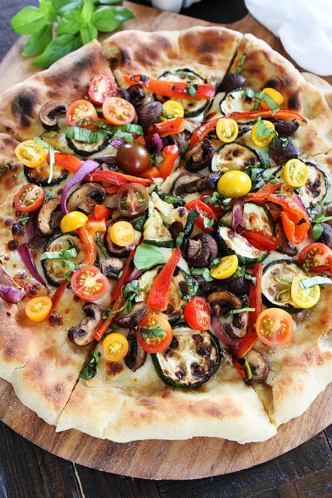 Very Very Vegetable Pizza Recipe — Dishmaps