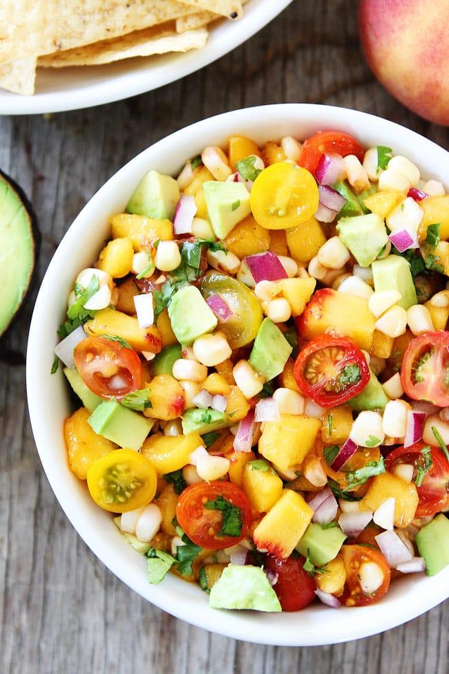 Peach, Corn, and Avocado Salsa Recipe