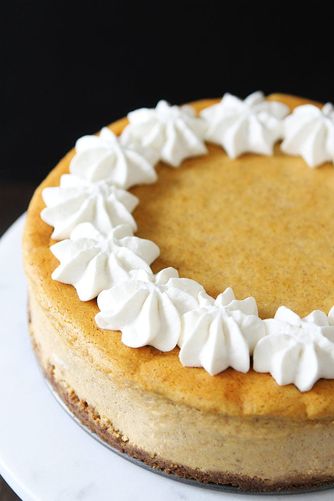 The pumpkin cheesecake filling is easy to whip up and the pumpkin and ...