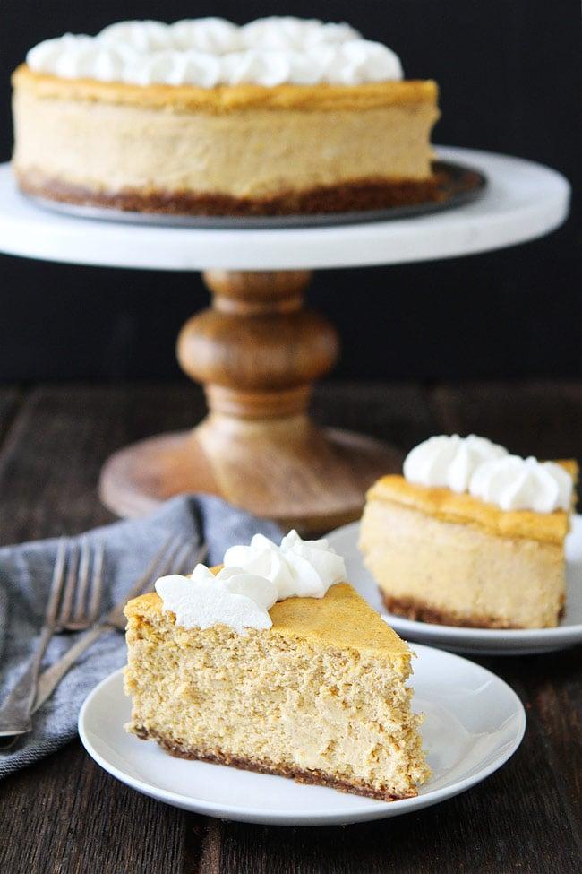 Pumpkin Cheesecake Recipe | Two Peas & Their Pod