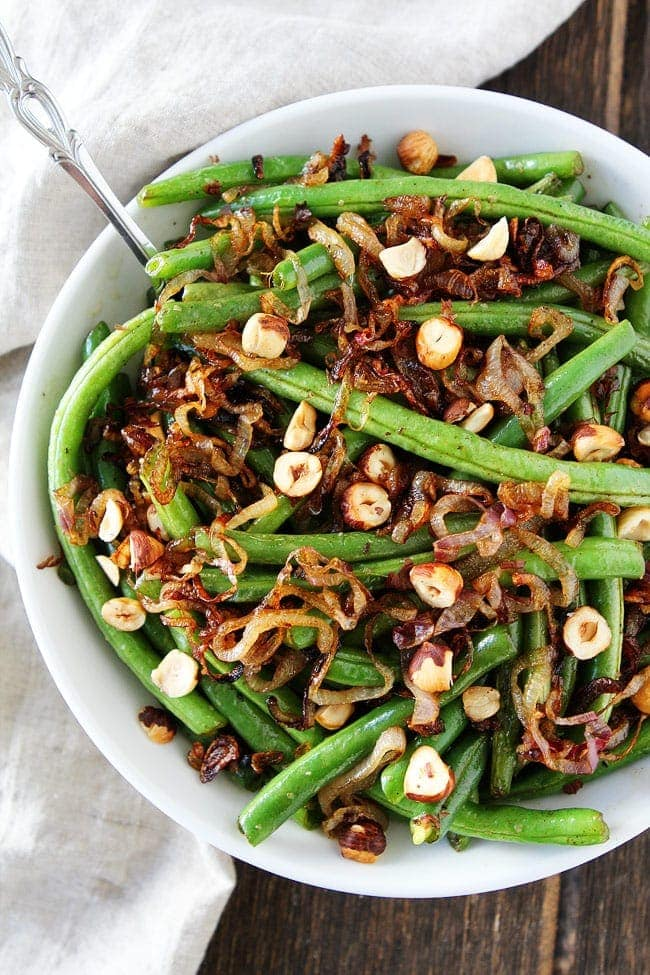 Green Beans with Brown Butter, Crispy Shallots, and Hazelnuts Recipe ...