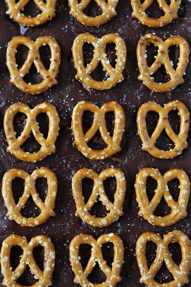 Salted Caramel Pretzel Fudge Recipe