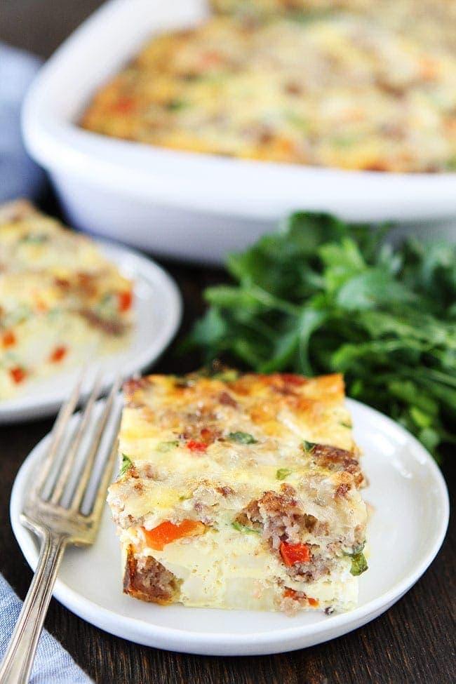 Sausage, Cheese, and Potato Egg Casserole Recipe