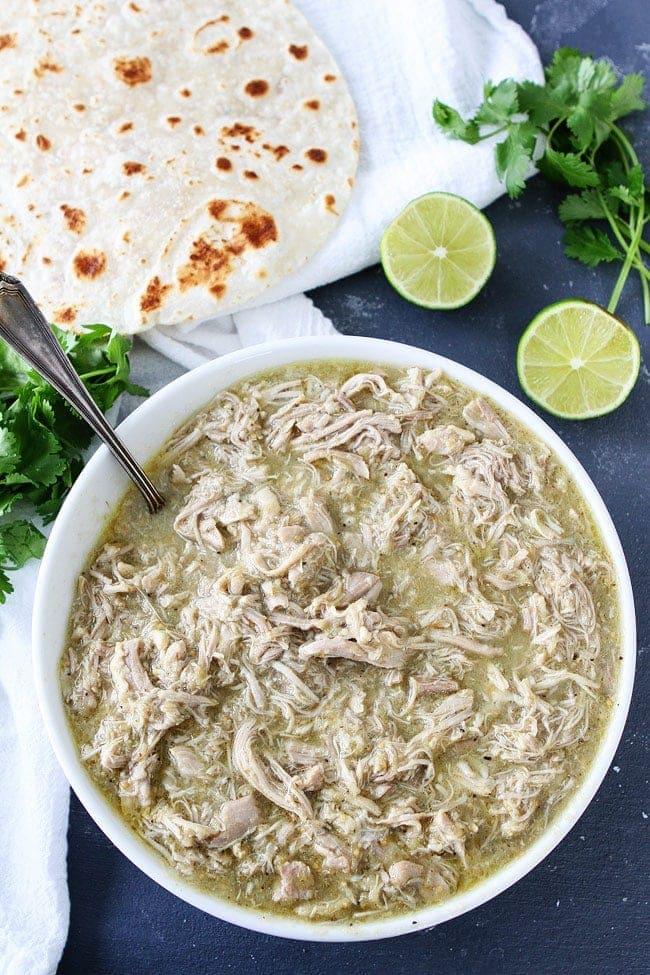4-Ingredient Instant Pot Chicken Chile Verde Recipe