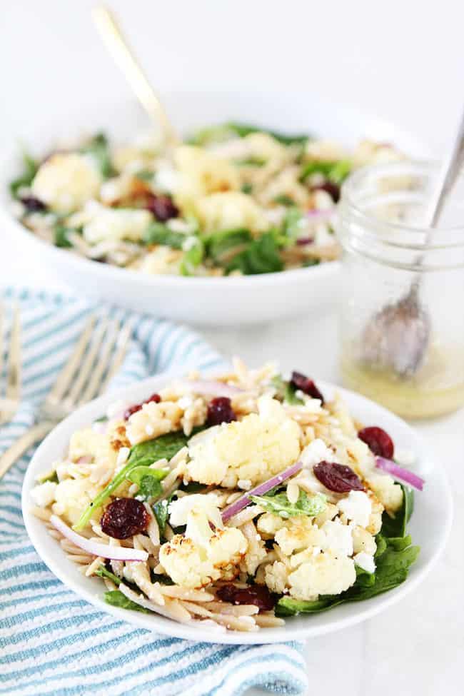 Roasted Cauliflower, Feta, and Orzo Salad Recipe