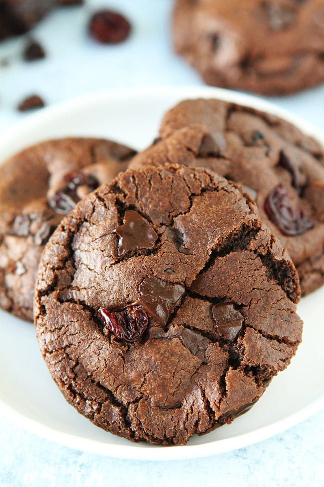 Dark Chocolate Dried Cherry Cookies