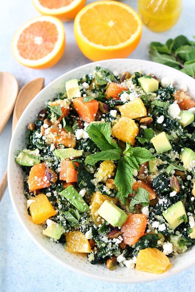 Orange, Avocado, and Kale Quinoa Salad Recipe on twopeasandtheirpod ...