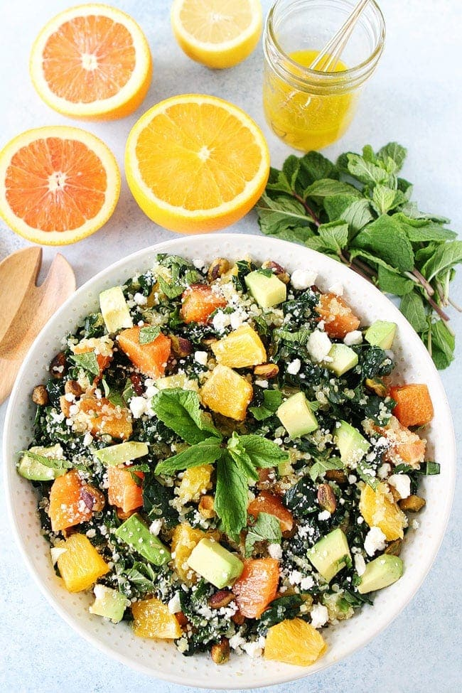 Orange, Avocado, and Kale Quinoa Salad-kale salad with quinoa, orange ...