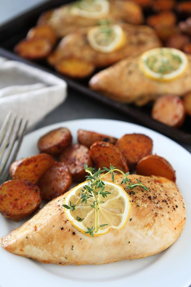 Sheet Pan Lemon Thyme Chicken Recipe