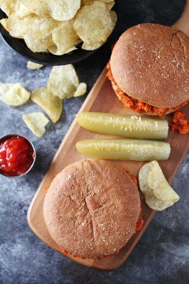 Cauliflower Lentil Sloppy Joes Recipe