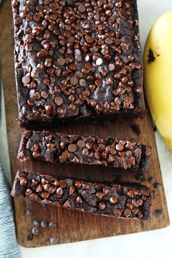 Gluten-Free Vegan Chocolate Banana Bread Recipe