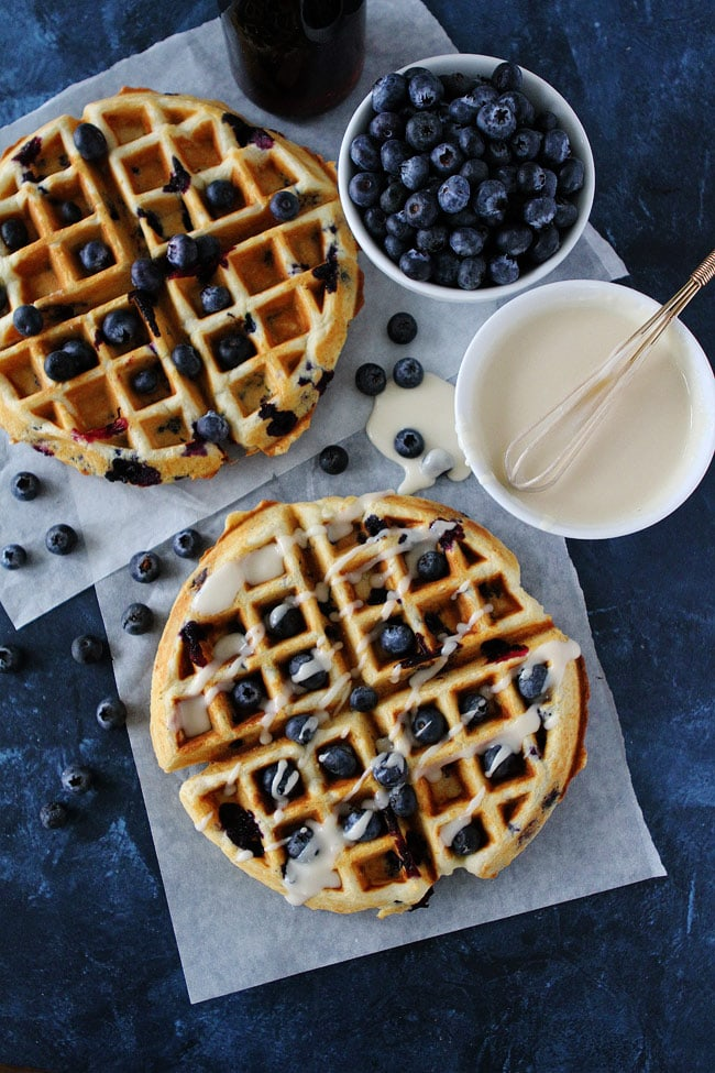 Blueberry Sour Cream Waffles Recipe