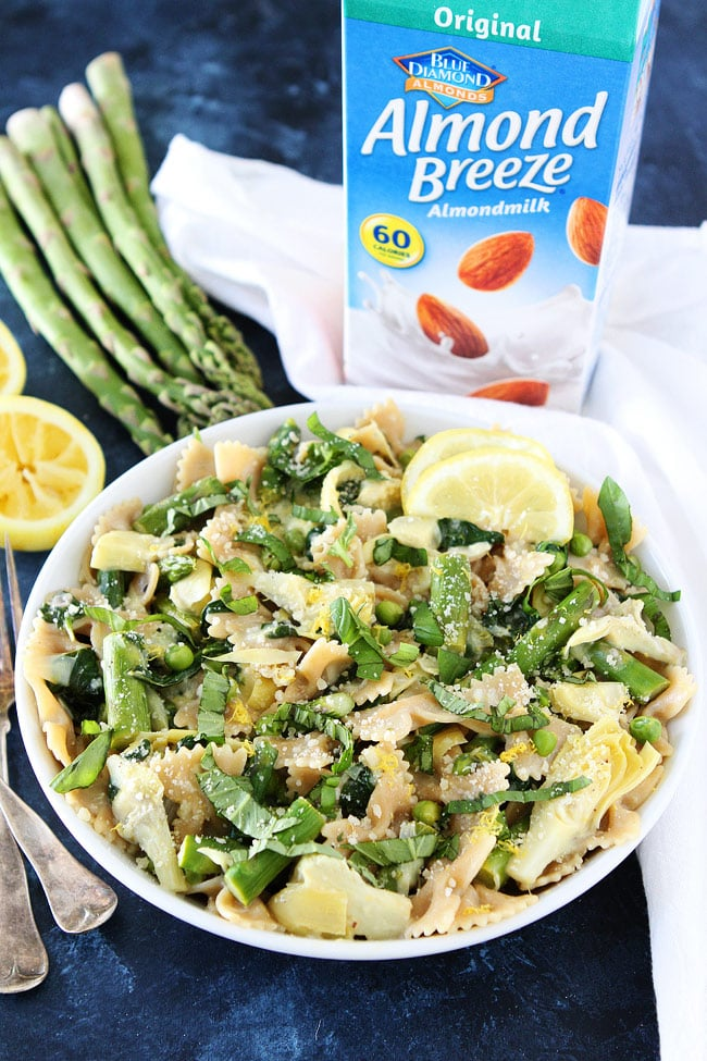 Creamy Lemon Spring Vegetable Pasta Recipe
