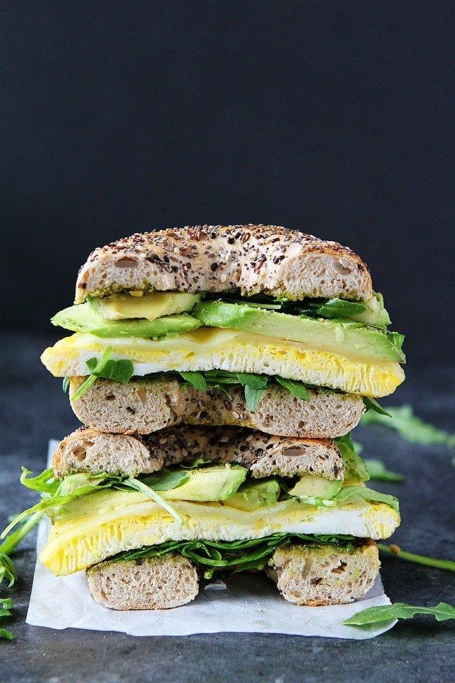 Pesto and Egg Breakfast Sandwich